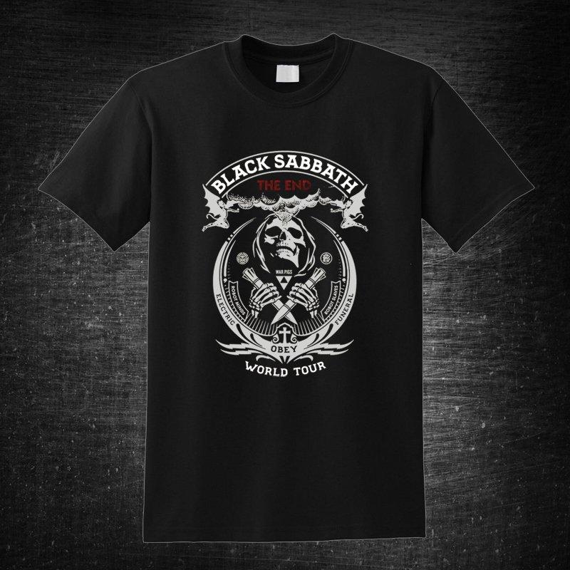Black Sabbat the End World Tour 2 Black t-shirt