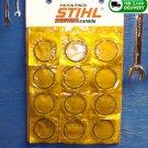PISTON RINGS 49x1.5mm SET of 12 (24 rings total) Fits STIHL TS400 TS360 TS350