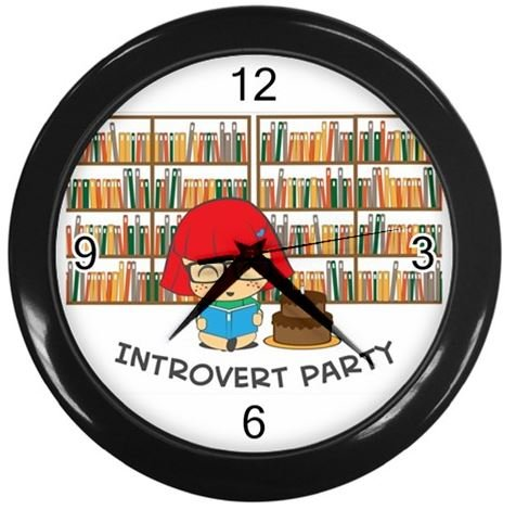 Introvert Party - Wall Clock