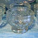 Six Vintage Footed Six Dessert Cups, Owens Illinois,  Crosshatch Design