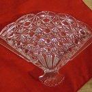 Avon fan-shapped glass soap dish