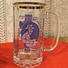 Souvineer Beer Mug 1995 Delta Blues and Heritage Fest, Gold Rim