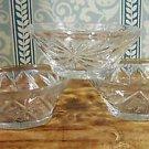 3 Vtg 60s Early American Prescut Dessert Bowls Pineapple EAPG
