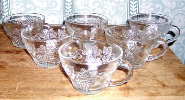 7 Jeanette Grape and Fruit Punch Cups