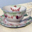 Porcelain China Small Miniature Footed Demitasse Cup & Saucer, Made In Japan