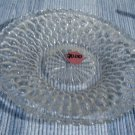 Indiana Glass Vintage Clear  Honeycomb Relish Cookie Double Handle Plate
