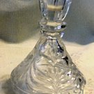 Vintage Crystal Candlestick Floral Cup, Foliage Pattern on Base