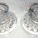 Pair of Anchor Hocking Low Candlesticks in a Star Pattern