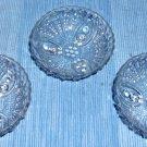 Anchor Hocking Burple Pattern Crystal Berry Bowls, Set of 3