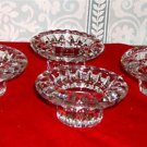 Vintage set of four crystal candle holders for tapers/ tealights (dual purpose)