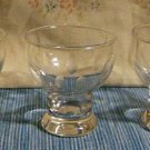 Set of three cut glass cordial / apertif glasses, leaf pattern