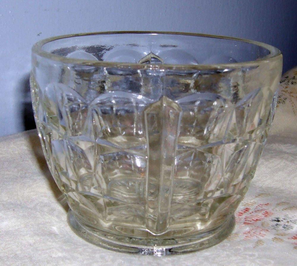 Vintage Sugar Bowl  with Thumbprint Design