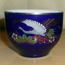Japanese Cobalt w/Gold Trim, Peacocks, Tea or Sake Bowl/Cup, from Shaddy