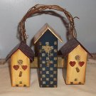 Decorative Birdhouse Wall Hanging on Grapevine Hanger / Wall Hanging