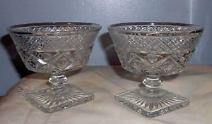 Pair of Cape Cod Sherbet Glasses from the Imperial Glass Company