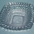 Vintage Federal Glass Co. Clear Square Diamond Quilted Dish