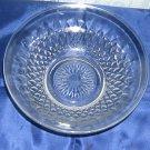 Diamond point pattern bowl, clear glass