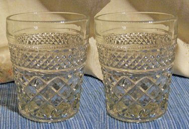 Two Wexford Whiskey/HighBall/On the Rocks Glasses, Vintage
