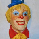 ON SALE: Vintage Chalkware Clown Head (Clown No. 6), 1985, Signed