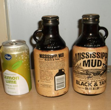 Two Mississippi Mud Black and Tan Bottles