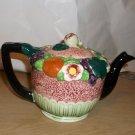 Little Fruit & Flower Covered Ceramic Teapot