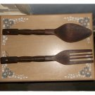 Carved Wooden Ford and Spoon, Decorative
