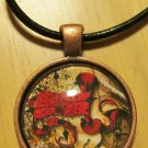 """Men's Handmade Steampunk Necklace #2 w/ approximately 16"""" Leather Cord"""