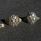 Matching Engraved Filigree Sterling Silver Earrings and Ring Size 6 1/2 #010
