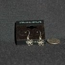 Sterling Silver Plate Flower Dangle Earrings#013