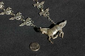 Sterling Silver Horse Neclace #029