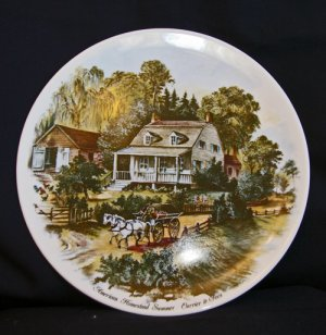 """Currier & Ives """"American Homestead Summer"""" Collectors Plate"""
