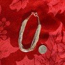20 Strand Liquid Silver Bracelet #040