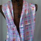 Tweed Pink Multi Colors Scarf New Long Neck 13x60 inch #f