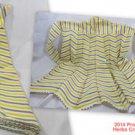 Apron Neck Tie Chevron White Yellow Gray 100% Cotton Vintage Rick Rack #f
