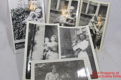 5 Photos Women with Children 1940's Black White Snapshots Vintage #f