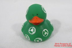 Recycle Dark Green Rubber Duck White Duckie New 2 Inch Ducky #f