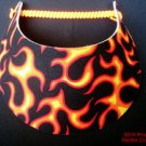 Flames Sun Visor Red Orange Yellow No Headaches New Miracle Spiral Lace #f