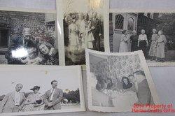 5 Photos Families 1940's Black White Snapshots Vintage #f