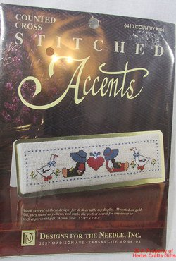 Country Kids Counted Cross Stitch Kit Table Display Designs for Needle #6410 #f