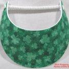 St Patrick's Shamrocks Sun Visor Irish No Headaches New Spiral Lace 1 Size #f