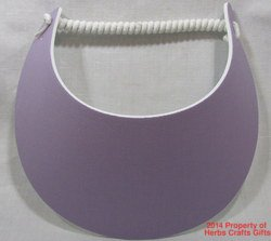 Lavender Sun Visor No Headaches New Miracle Spiral Lace 1 Size Most #f