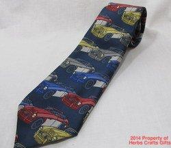 Neck Tie English Cars Blue New PL Sells United Kingdom Mens Necktie #f