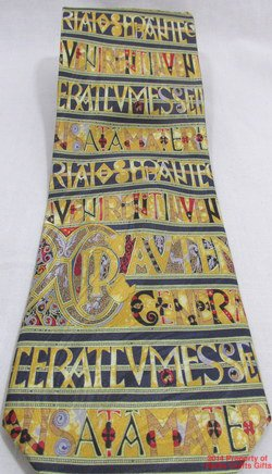 Museum Artifact Silk Neck Tie Insular Romanesque Interlace Gothic Design #f