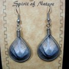 Earrings White Gray Black Thread Spirit Nature Peru Natives Silver New 56.f