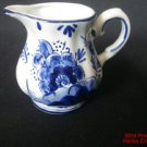 Delft Pitcher Flowers Holland 3 inch Cobalt Blue White Handpainted Blau our194.f