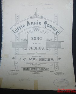 Little Annie Rooney 1889 Sheet Music Song & Chorus Antique Stitched .f