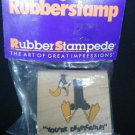 Daffy Duck You're Despicable Looney Tunes Rubber Stamp New 2 inch NIP .f