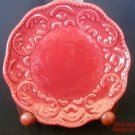 Red Plate California Pantry Classic Ceramics 6 Dessert Side Dish Candle 2007 .s
