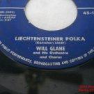 Liechtensteiner Polka 45 RPM Record Schweizer Kanton Polka Will Glahe London .f
