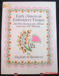 Early American Embroidery Designs 1815 Manuscript Album New 048624946 Crafts .f